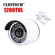 1200TVL Cmos Hd Cctv Camera in/Outdoor Waterproof ip66 IR-CUT 36Led Night Vision Video monitoring security vidicon have bracket best price 700tvl cmos 960h 36pcs ir leds day night waterproof indoor outdoor cctv camera with bracket free shipping