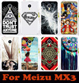 Горячие продажи прозрачные стороны красочные Картины мобильного телефона case для Meizu MX3 MX 3 MX III жесткого Пластика Задняя крышка Кожи Shell