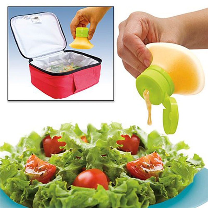 Mini Squeeze Sauce Bottle Silicone Salad Dressing Sauce Jars For Ketchup Mayonnaise Picnic Lunch Box Accessories Kitchen Tools image