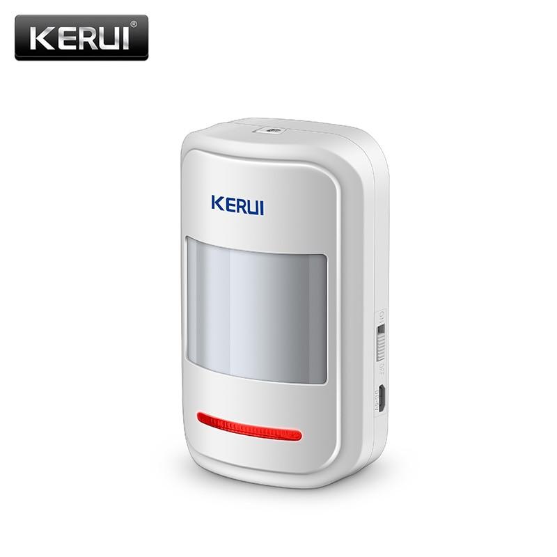 Kerui inalámbrico inteligente PIR sensor de movimiento detector de alarma para GSM PSTN inicio Alarmas antirrobo sistema de seguridad antena incorporada