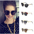 Unisex Men Women Girl Fashion Vintage Cat Eye Sunglasses Round Semi Rimless Hot