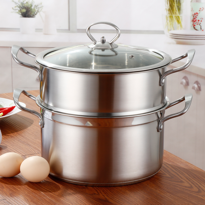 Multifonctionnels Steamers en acier inoxydable de qualité alimentaire à la vapeur Pot ménage Multi cuisinière Pot diamètre 22 CM pour outil de cuisine