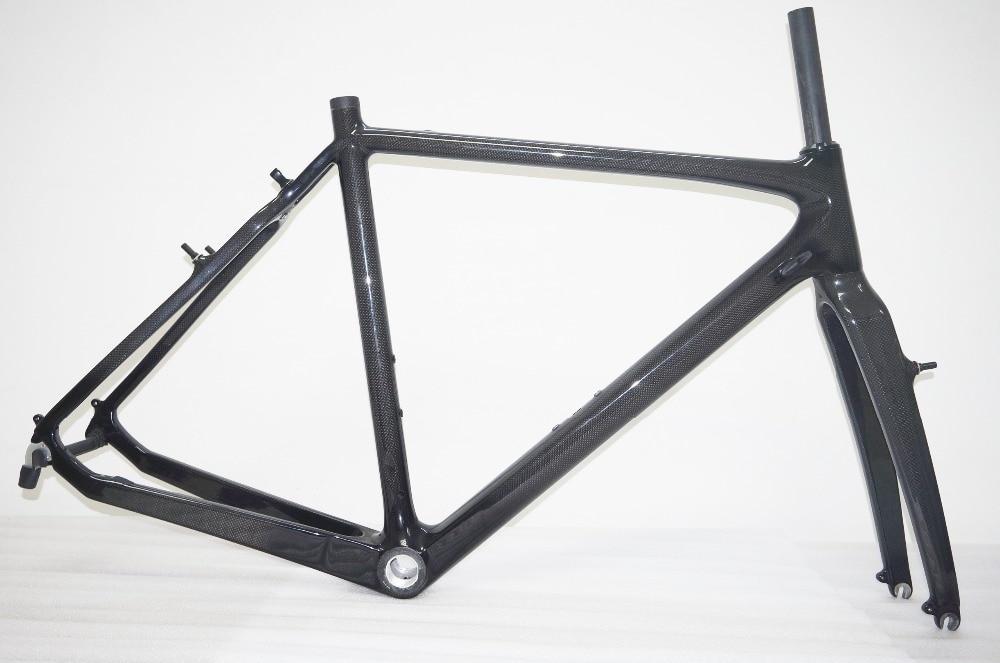 3k Carbon Cyclocross V-Brake Road Frame Cyclo Cross Bike Frame Fork 51/53/55/57cm