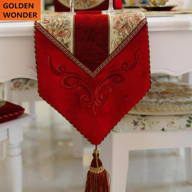 european luxury bed flag embroider high grade wedding gifts red rose