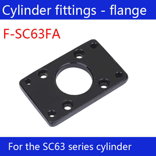 Free shipping  Cylinder fittings 1 pcs flange joint F-SC63FA, applicable  SC63 standard cylinder stainless steel ss304 pipe joint fittings 10 3 8pipe joint fittings