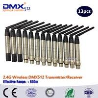 DHL Ücretsiz nakliye uzun menzilli kablosuz 2.4G Kablosuz DMX denetleyici verici  alıcı  LED aydınlatma kumandası  LED alıcı