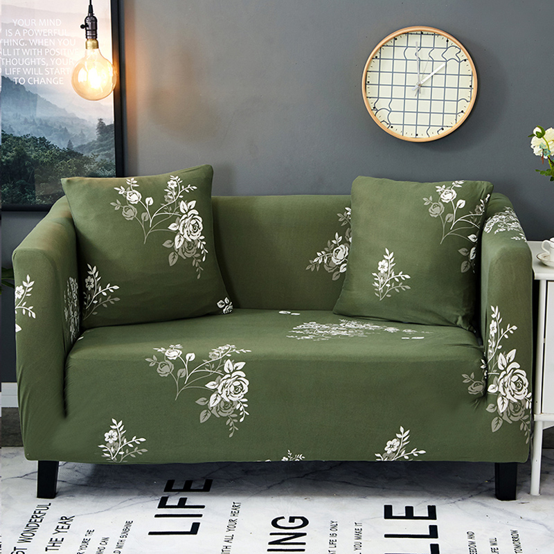 Slipcovers Sofa Cove flowerpattern tight wrap all-inclusive slip-resistant sectional elastic full sofa One/Two/Three/Four seat