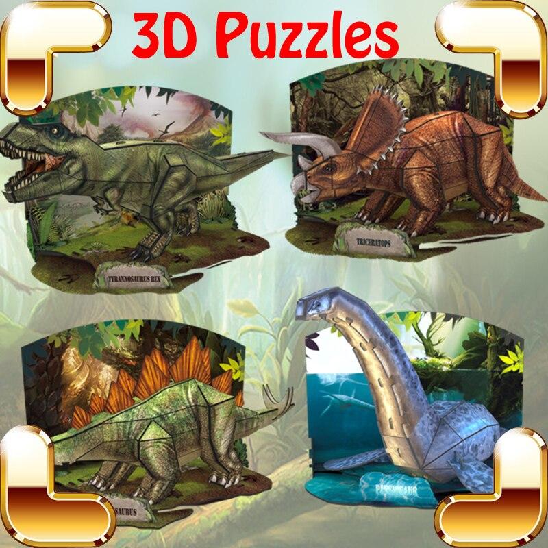 Nouvelle Année Cadeau L'âge De Dinos 3D Puzzles Modèle Dinosaure Décoration Apprentissage Éducatif Jouets Enfants Famille Jeu DIY Facile Assembler
