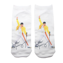 DMLSKY Freddie Mercury Funny Socks Women Men Fashion 3D Printed Cotton Cartoon Novelty M3330