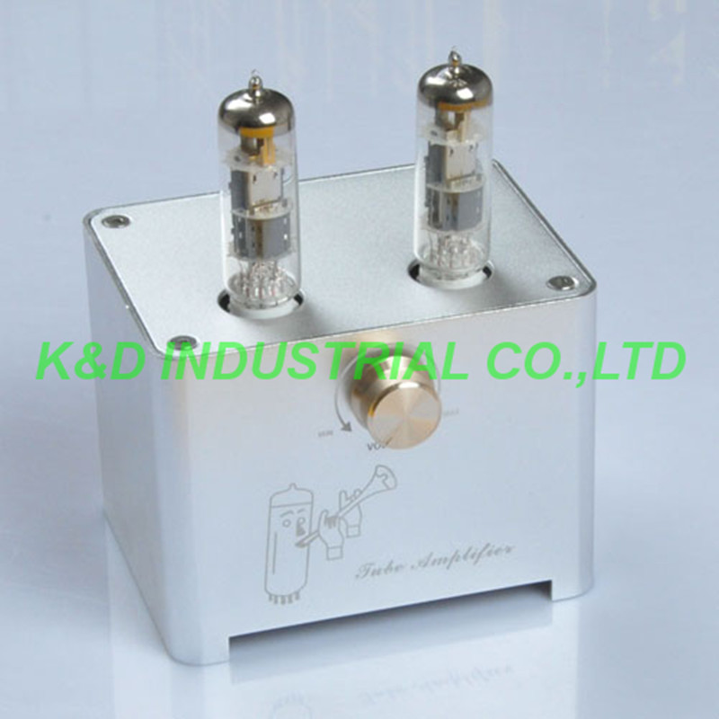 1pc Sliver Small Mini Tube AMP Single Ended HIFI Audio Amplifier 6F3 ECL805 ECL851pc Sliver Small Mini Tube AMP Single Ended HIFI Audio Amplifier 6F3 ECL805 ECL85