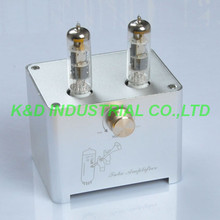 1pc Sliver Small Mini Tube AMP Single Ended HIFI Audio Amplifier 6F3 ECL805 ECL85