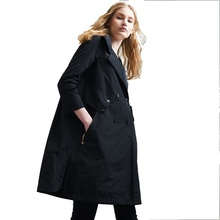 2018 spring and autumn women s fashion trench European American loose windbreaker EF1028
