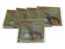 5 Sets Alice Brand Plated Steel Mandolin Strings Coated Copper Alloy Wound String