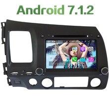 "4G WIFI 8"" Android 7.1.2 Quad Core 2GB RAM DAB+ Car DVD Multimedia Player Radio For Honda Civic 2006 2007 2008 2009 2010 2011"