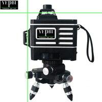Yepbi Professional 12 Lines 3D Self Leveling Laser Level Nivel Laser 360 Autonivelante Super Powerful Green Laser Beam Line