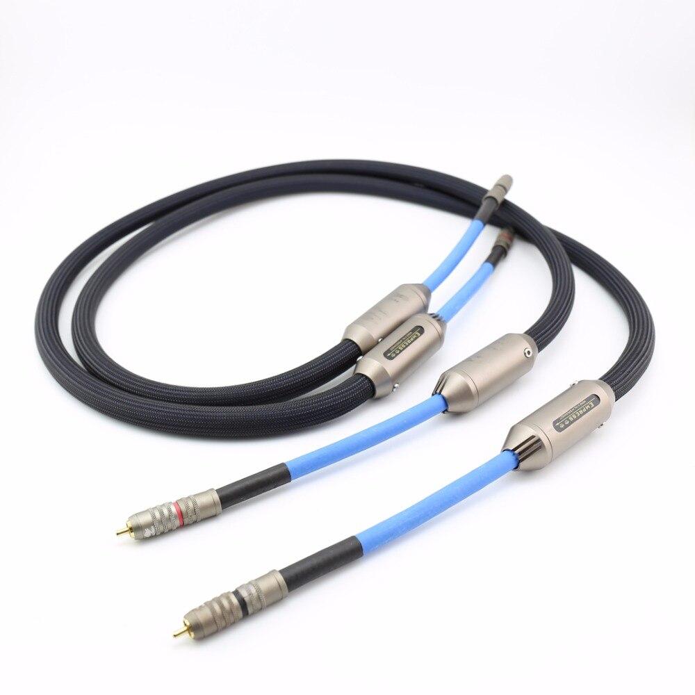 Livraison gratuite SILTECH Impératrice Double Couronne RCA Interconnexion Audio Câble avec la boîte audio câble d'interconnexion
