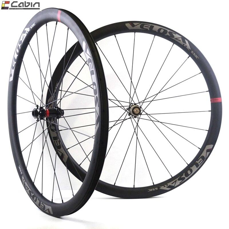 700C strada ruota di bicicletta da ciclocross Ghiaia ruota, Velosa CX30 30mm profondità 27.5mm di larghezza ruota, tubeless ready, super leggero