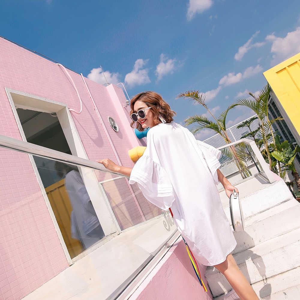2019 летнее женское платье с пайетками и рисунком асимметричное платье свободного покроя с кисточками асимметричное платье-футболка белого и черного цвета A097