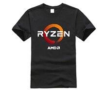 PC CP cpu Uprocessor AMD RYZEN футболка Программист-фанат футболки для игр camiseta компьютер дзен периферийные хлопковые футболки