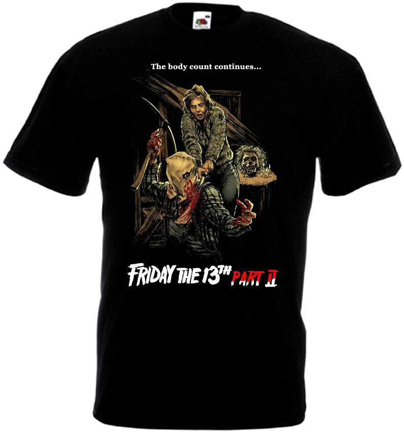 Friday The 13 v19 T-Shirt all sizes S-5XL BLACK