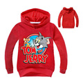 New Kids clothes Tom and Jerry Hoodies Sweatshirts Boys/Girls Terry Cotton Topwear Kids Outerwear Children's long sleeve sweater