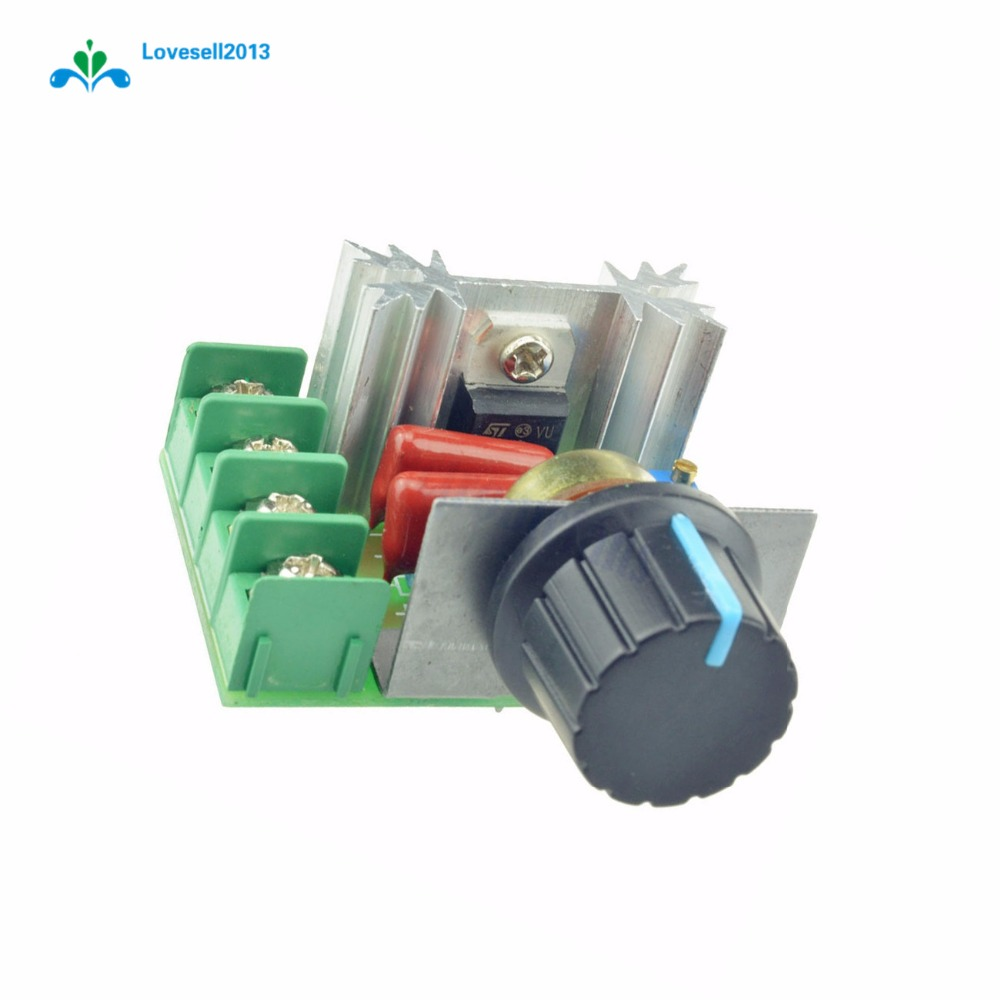 2000W 50-220V AC 25A SCR Motor Speed Controller Adjustable PWM Voltage Regulator Temperature Motor Switch Module 4.8*5.5*2.7cm