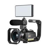 Winait профессиональный высокое качество UHD 4 К Wi Fi цифровой видео Камера с 3,0 ''сенсорный Дисплей дома Применение Цифровая видеокамера