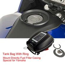 MT 03 R1 R6 FZ1 bolsas de depósito para motocicleta y anillo montaje directamente Relleno de Combustible carcasa para Yamaha MT03 FZ6 FZ8 XJ6 FJR XJR 1300 XSR 900