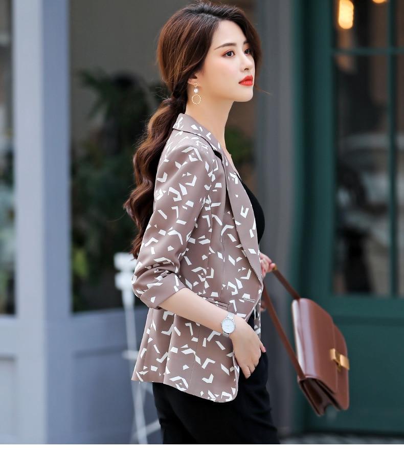 Womens Leopard Elegant Blazer Jacket Women Spring Autumn Ladies Long Sleeve Slim Fit Blazer for Women Animal Print Suit Jacket