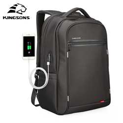 Kingsons Multifunction USB Charging Men 17inch Laptop Backpacks For Teenager Fashion Male Mochila Leisure Travel Backpack