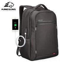 Kingsons usb wielofunkcyjne ładowanie mężczyźni 17 cali Laptop plecaki dla nastolatków moda mężczyzna Mochila plecak podróżny na wypoczynek