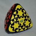 Marca Nueva Lanlan Gear Arroz Dumpling Mastermorphic Mini Cubo Mágico Puzzle Toy Juguetes Educativos Especiales-Negro