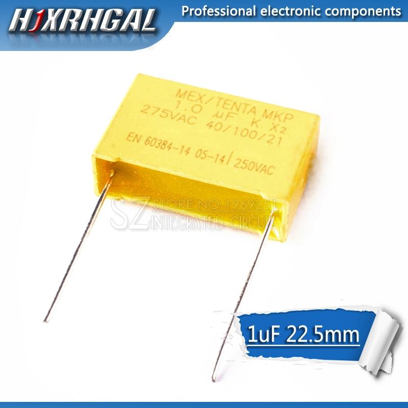 10pcs Capacitor X2 Capacitor 275VAC Pitch 22.5mm X2 275V Polypropylene Film Capacitor 1uF Hjxrhgal