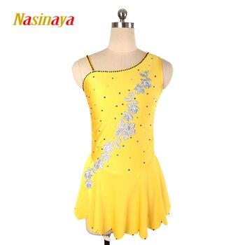 Nasinaya Figure Skating Dress Customized Competition Ice Skating Skirt for Girl Women Kids Patinaje Gymnastics Performance 217