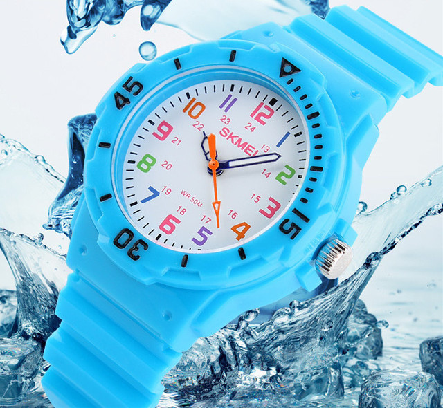 Skmei Fashion Children Watch Brand Watches Quartz Wristwatches Waterproof Jelly Kids Clock Boys Girls Students Wrist Watches