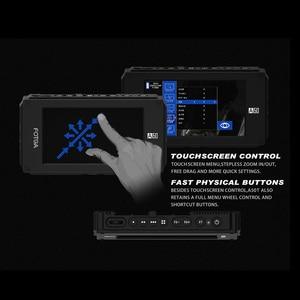 """Image 3 - FOTGA A50T 5 """"FHD וידאו על מצלמה מגע מסך שדה צג עבור sony עם חם/קר נעל הר מתאם 3/8 Inch M6 מתאם"""