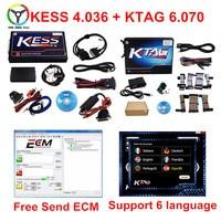 Full Set KESS V4.036 +KTAG V2.13 No Tokens Limited OBD Function Auto ECU Chip Tuning Scanner For Multi Cars ECU Programmer Tool