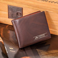 Mance designer mens wallet short slim brown Leather wallets erkek cuzdan male purses Portfolio Men sale