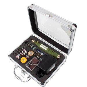 Image 2 - Mini perceuse rotative électrique 18V 18000 tr/min, broyeur avec 80 pièces, accessoires, mèches, Kit de ponçage pour outil Dremel