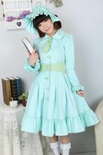 Lovely Sky Blue Winter Cute Lolita Coat Winter Long Cotton Coats All Size