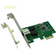 Realtek 8111C Computer 1Gbps Gigabit Ethernet Network Card PCI-e to RJ45 Lan Adapter Converter with Low Profile Bracket