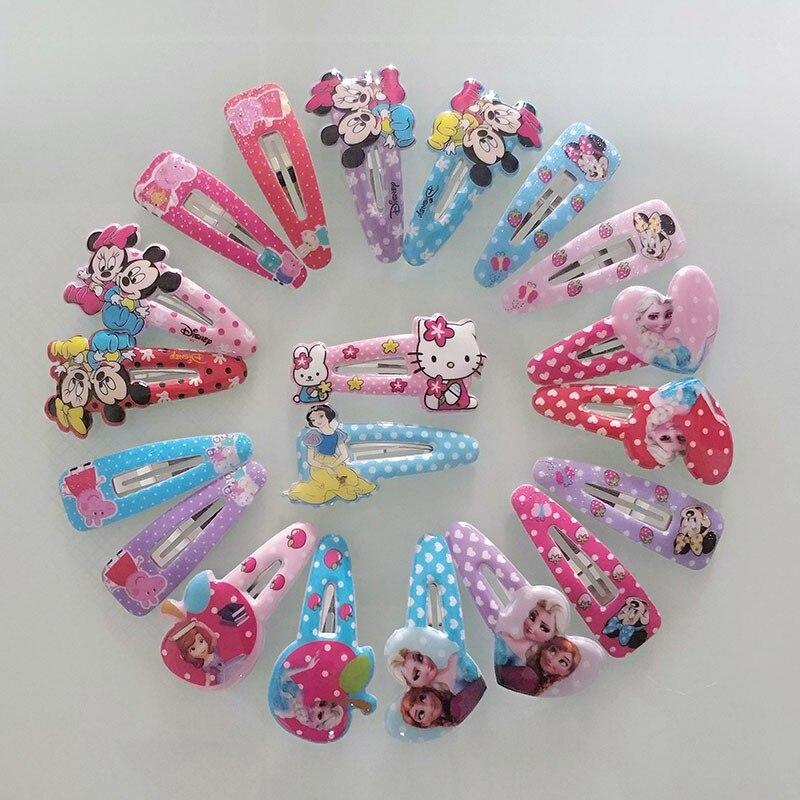 12Pc/Set Girl Hair Accessories Cartoon Hairpin children elastic Hair Clips Set Hairband Band Girl Hair Barrettes Kid Set Gift