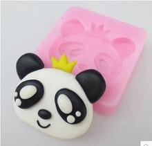 Free shipping  Panda Face shape hot sale chocolate silicone mold fondant Cake decoration soap