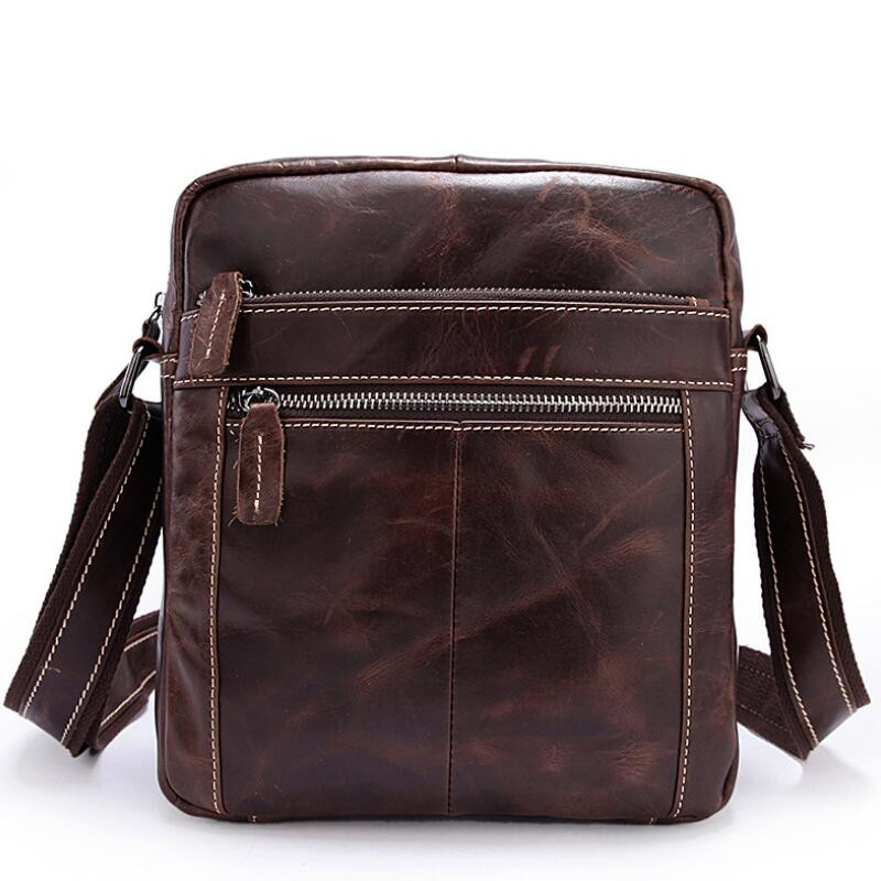 Genuine Leather Men Shoulder Bags New Fashion Male Handbag Small Crossbody   Messenger Bag   LJ-0783 neweekend genuine leather bag men bags shoulder crossbody bags messenger small flap casual handbags male leather bag new 5867