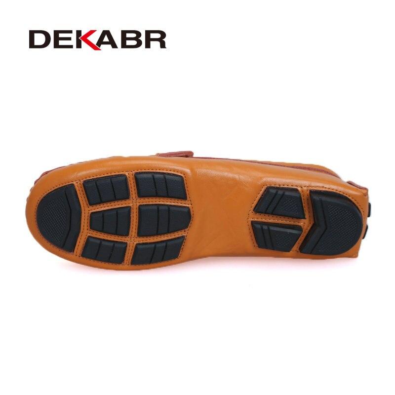Image 4 - Мужские туфли из натуральной кожи DEKABR, желто коричневые мягкие мокасины, модная брендовая удобная обувь на плоской подошве для вождения, весна осень 2019shoes brandshoes fashionshoes quality -