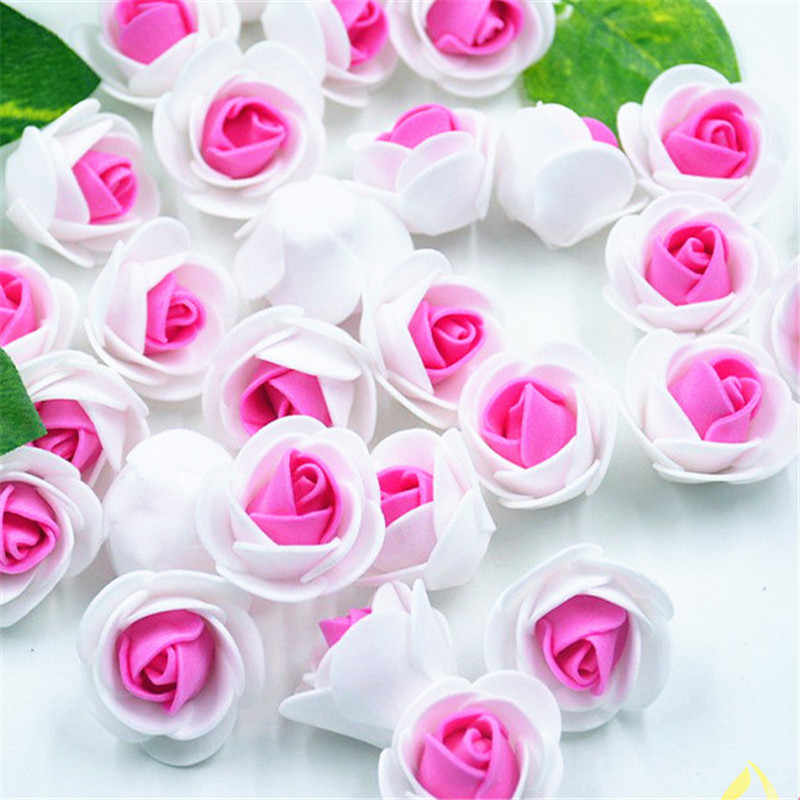 20pcs PE Foam Fake Flower Roses Head Artificial Flowers Cheap Wedding Decoration For Scrapbooking Gift Box Diy Wreath Multi-use