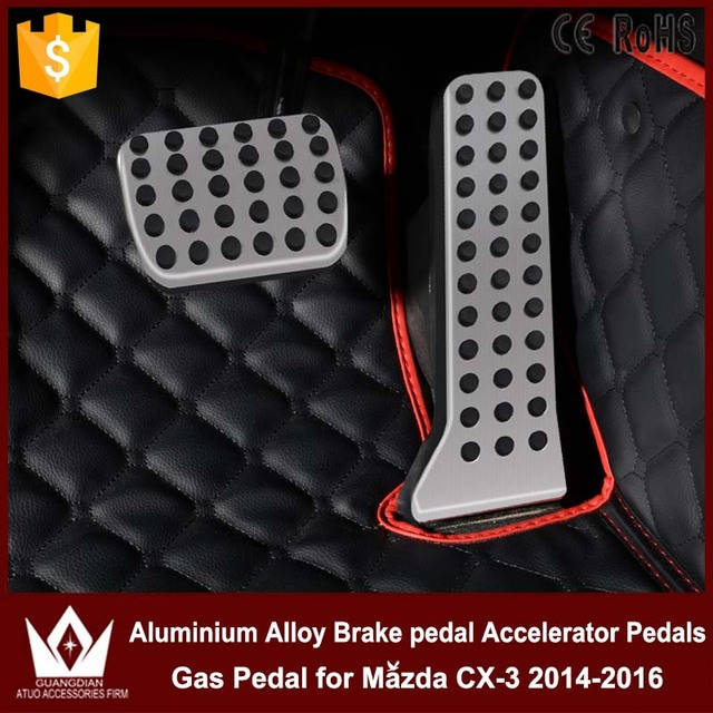 Night Lord high quanlity Don't need to punch Aluminium Alloy Brake pedal Accelerator Pedals Gas Pedal for Mazda CX-3 2014-2016