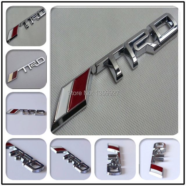 3D Modified Car badge Sticker Styling TRD Metal  Emblem for toyota silver/black