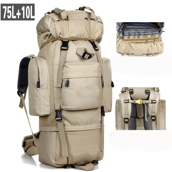 85L Large Capacity Outdoor Mountaineering Bag Tactical Hiking Tactical Military Bag Sports Backpack Camping Tents Bag