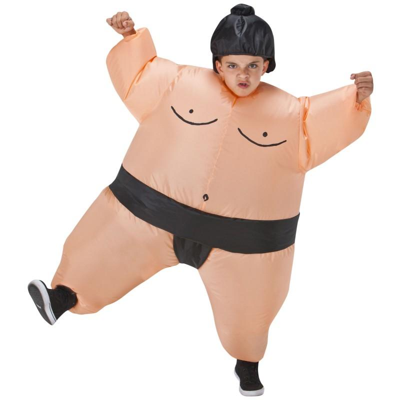 Japan Funny Sumo Run Suits Wrestler Costumes Kids Adults Unisex Inflatable Fancy Dress for Halloween Carnival Airblown Outfit
